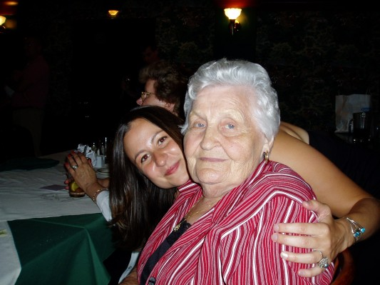 Me and my grandmother, Gertrude Grzybowski, right before I moved to New Mexico.
