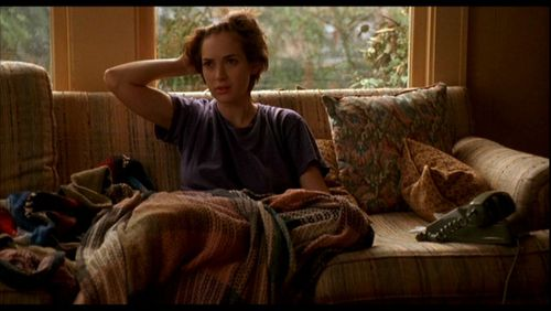Winona Ryder's character in film Reality Bites, couching it.